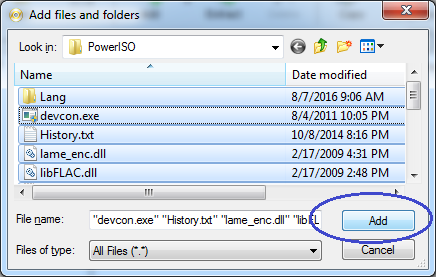 Fajlovi i folderi su selektovani