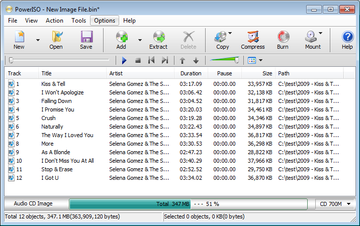 Burn flac files to Audio CD