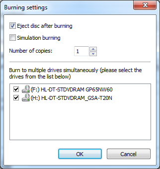 Burn to multiple drives at once