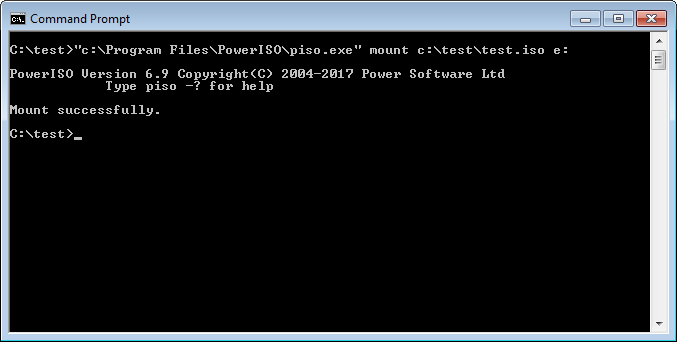 Mount iso file and other image file from command line