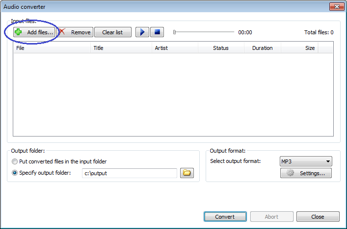 Convert mp4 files to mp3