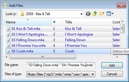 Convert audio files to wav