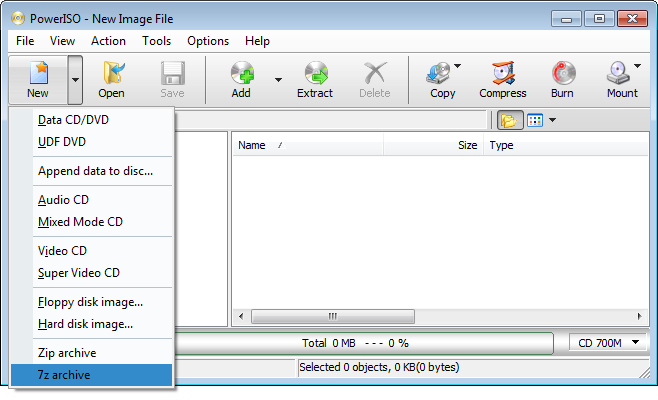 Create 7z File
