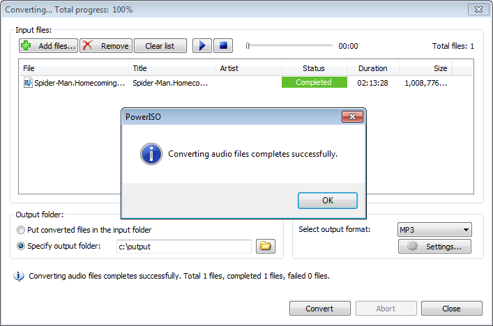 Extract audio from a video file