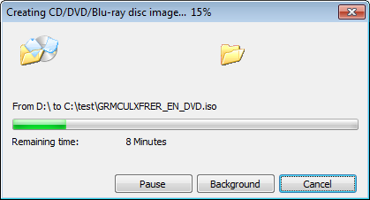 Make ISO file from CD, DVD, or Blu-ray disc