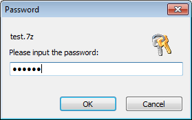 If The 7z Archive Is Encrypted PowerISO May Prompt You To Enter Password Open File Correct Then Click OK