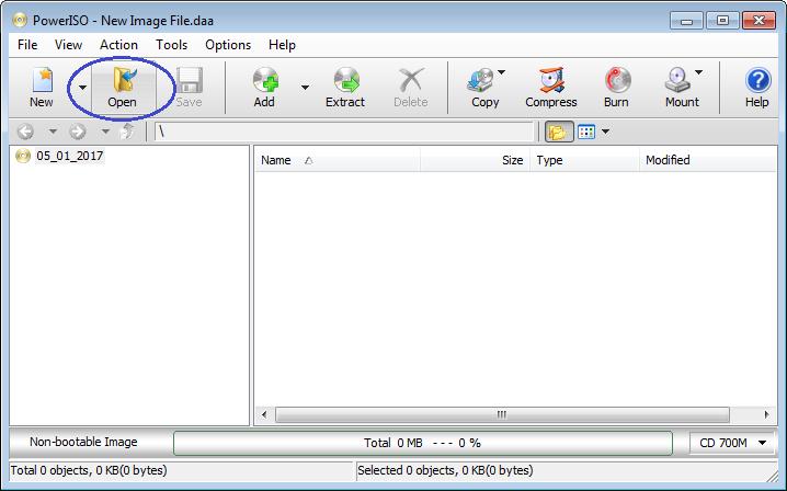 Open WIM File
