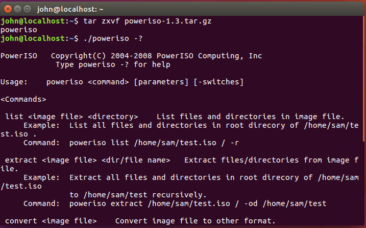 Download PowerISO Command Line Utility for Linux