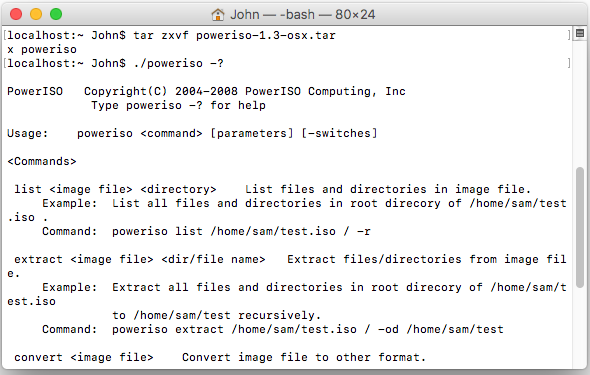 Download PowerISO Command Line Utility for OSX