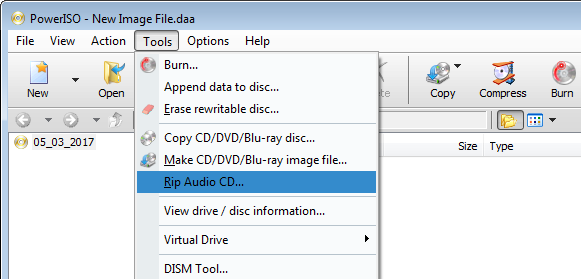 Rip CD to WAV Files